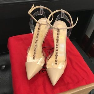 New Beautiful Auth Louboutin Spike/PVC heel